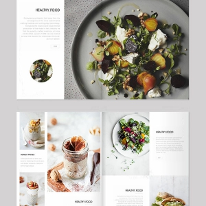 Food Catalog Layout Design