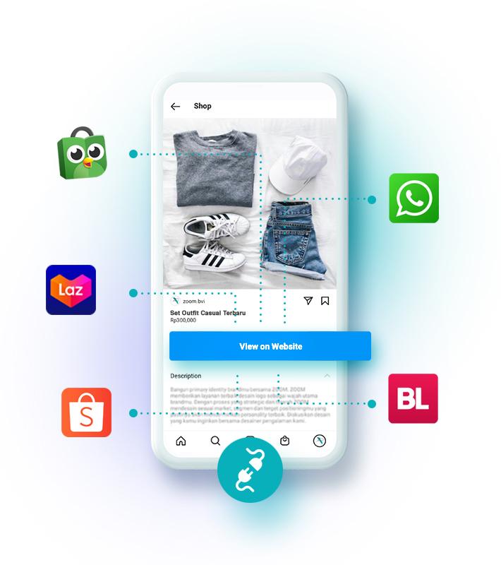 Custom Link Instagram Shopping